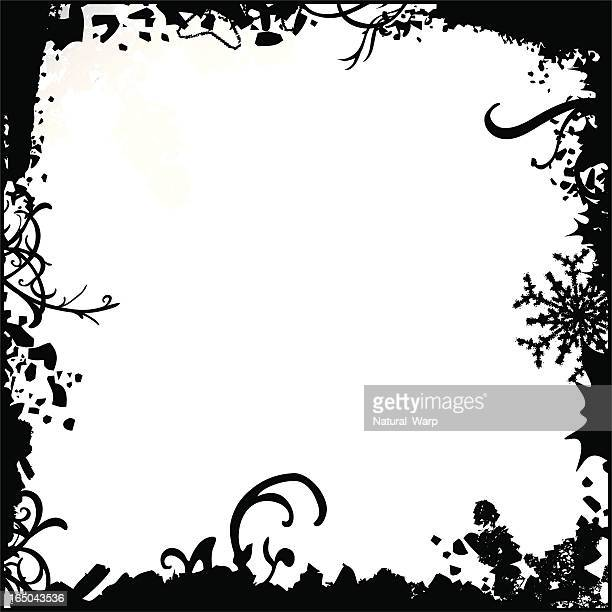 冬のグランジ - 黒枠点のイラスト素材/クリップアート素材/マンガ素材/アイコン素材
