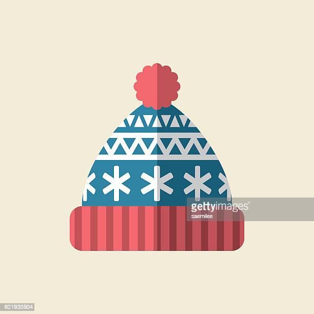 ilustrações, clipart, desenhos animados e ícones de winter hat icon - artigo de vestuário para cabeça