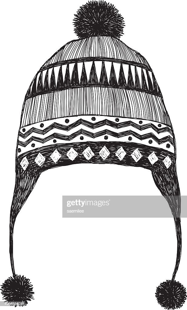 It's just a photo of Simplicity Winter Hat Drawing