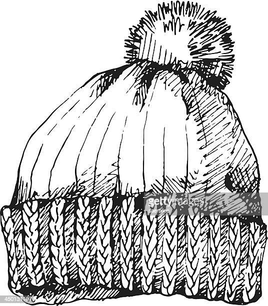 Illustrations et dessins anim s de bonnet pompon getty images - Dessin de bonnet ...