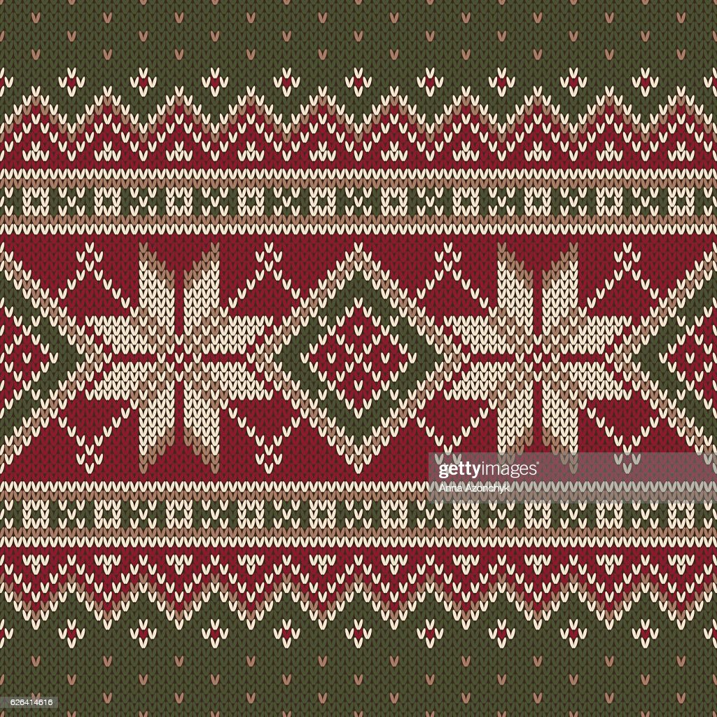 ccbb39db42c8a1 Winter Holiday Fair Isle Knitted Pattern. Vector Seamless Knitting  Background   stock vector