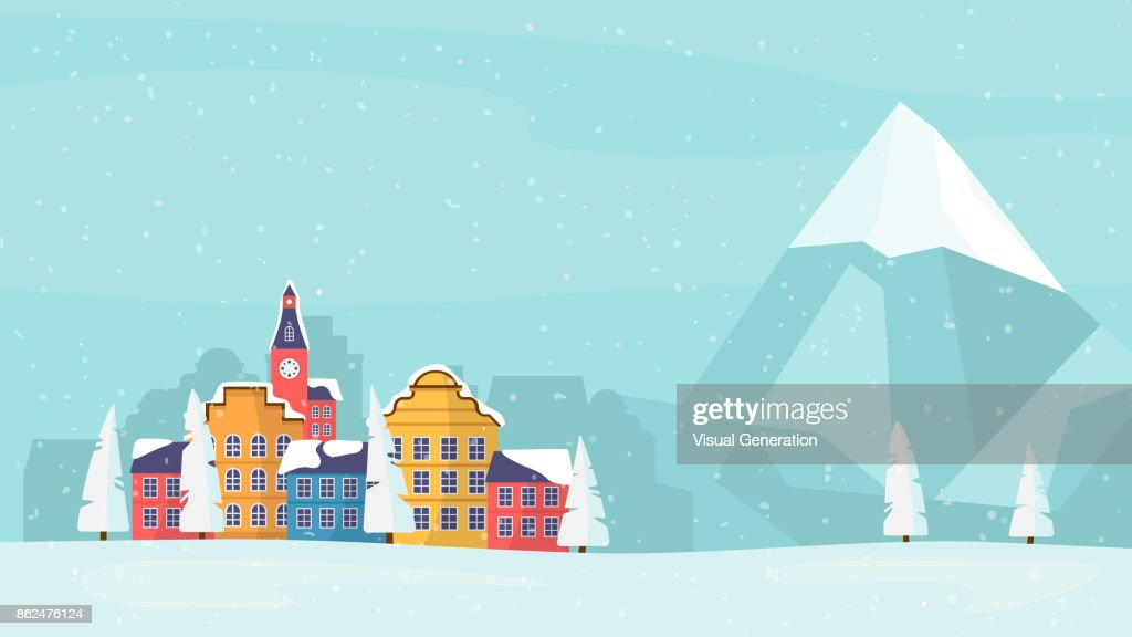 Winter Holiday family card, banner, poster