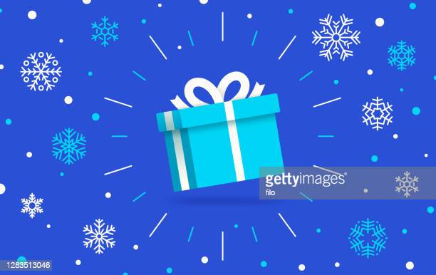 winter holiday gift - gifts stock illustrations