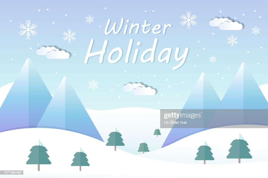 Winter holiday landscape