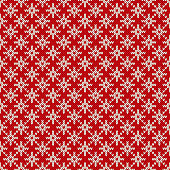 Winter Holiday Seamless Knitted Pattern with a Snowflakes. Christmas Knitting Sweater Design. Wool Knitted Texture