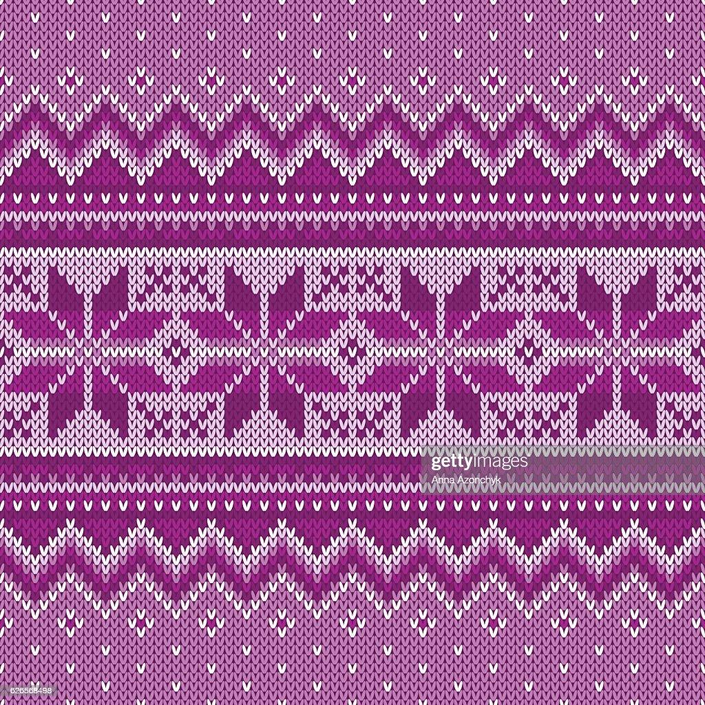 Winter Holiday Seamless Knitting Pattern Fair Isle Knitted Sweater