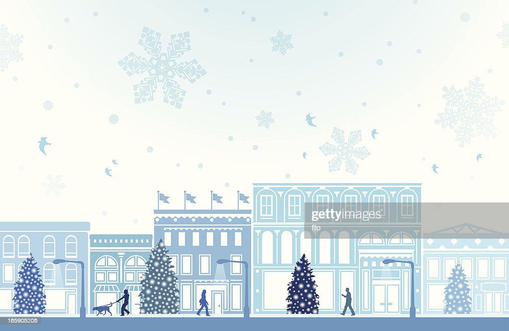 Winter Holiday Shopping : stock illustration