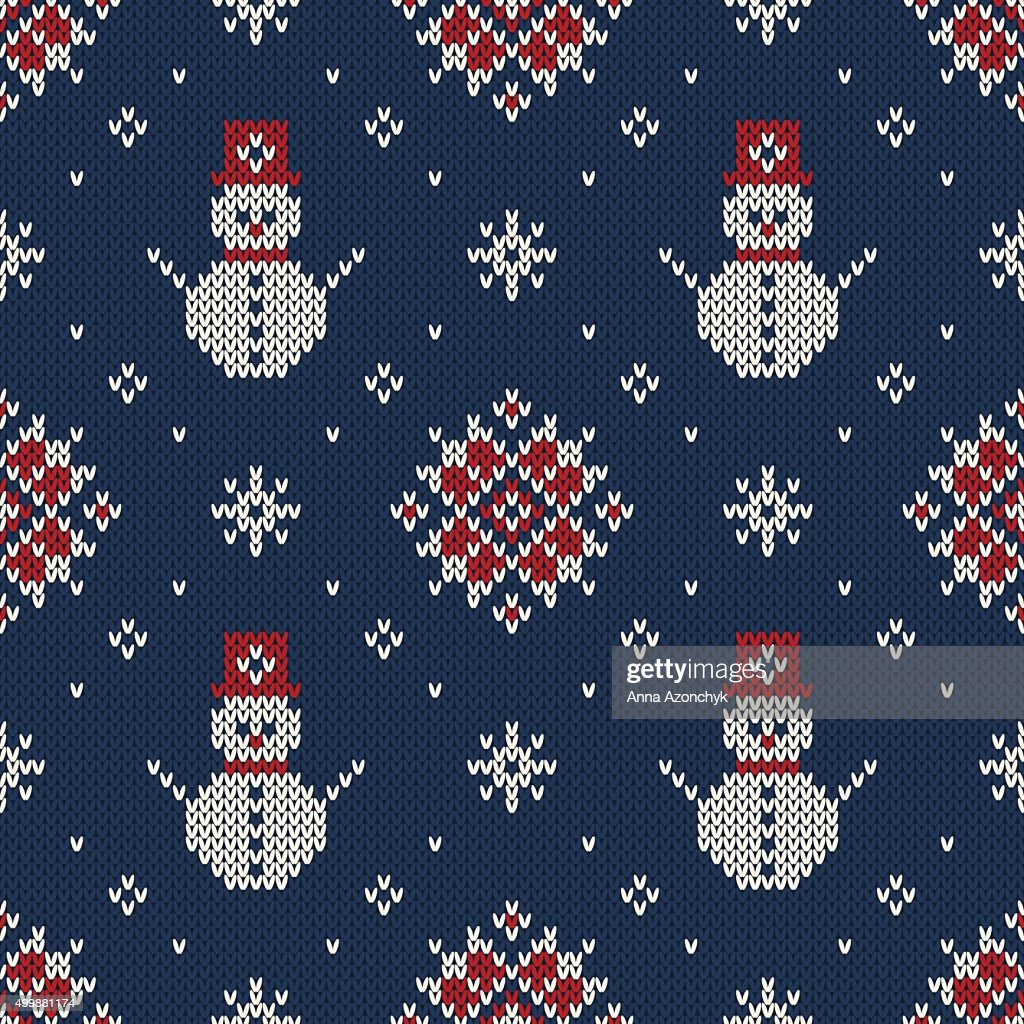 c5f3f9ccbef4 Winter Holiday Sweater Design Seamless Knitted Pattern stock vector ...
