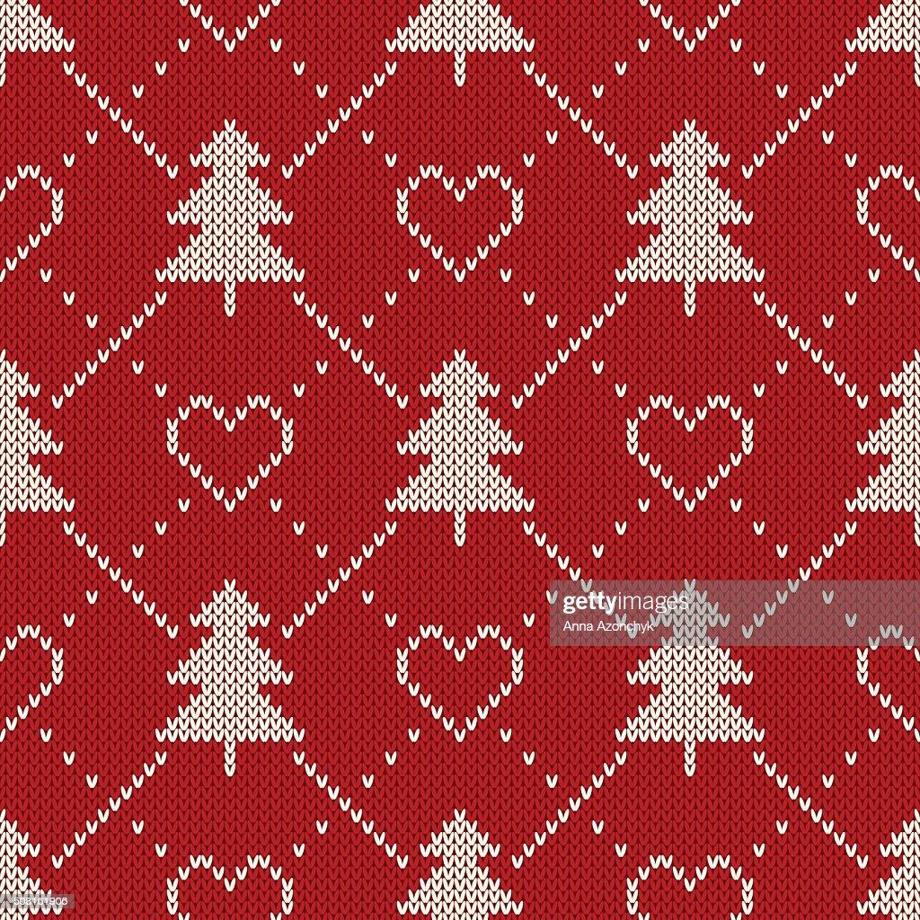 fdd59210eeea Winter Holiday Sweater Design Seamless Knitting Pattern stock vector ...