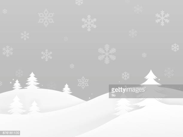winter holiday trees background - blizzard stock illustrations