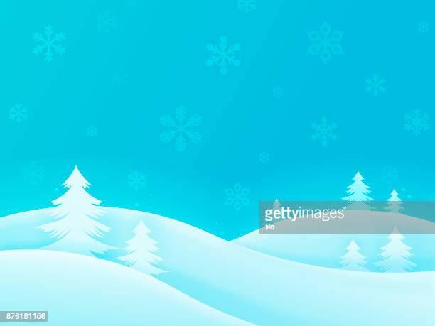 winter holiday trees background - ski slope stock illustrations, clip art, cartoons, & icons