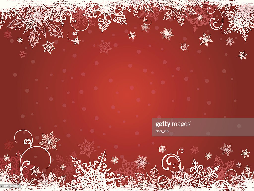 Winter holidays background in white snowflakes and red : stock illustration