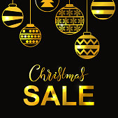 Winter holidays  lettering poster with Christmas Sale title