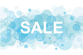 Winter holidays  lettering poster with Sale title