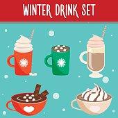 Winter hot drink set