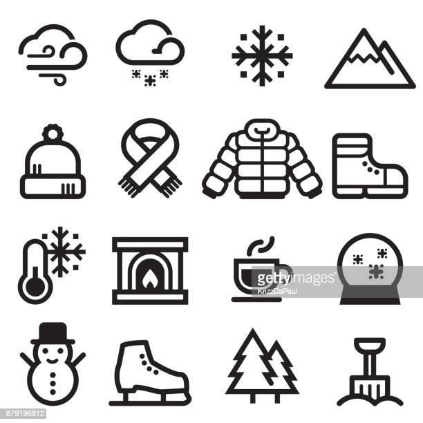 冬のアイコン - 防寒着点のイラスト素材/クリップアート素材/マンガ素材/アイコン素材