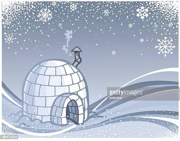 illustrations, cliparts, dessins animés et icônes de hiver igloo swish - igloo