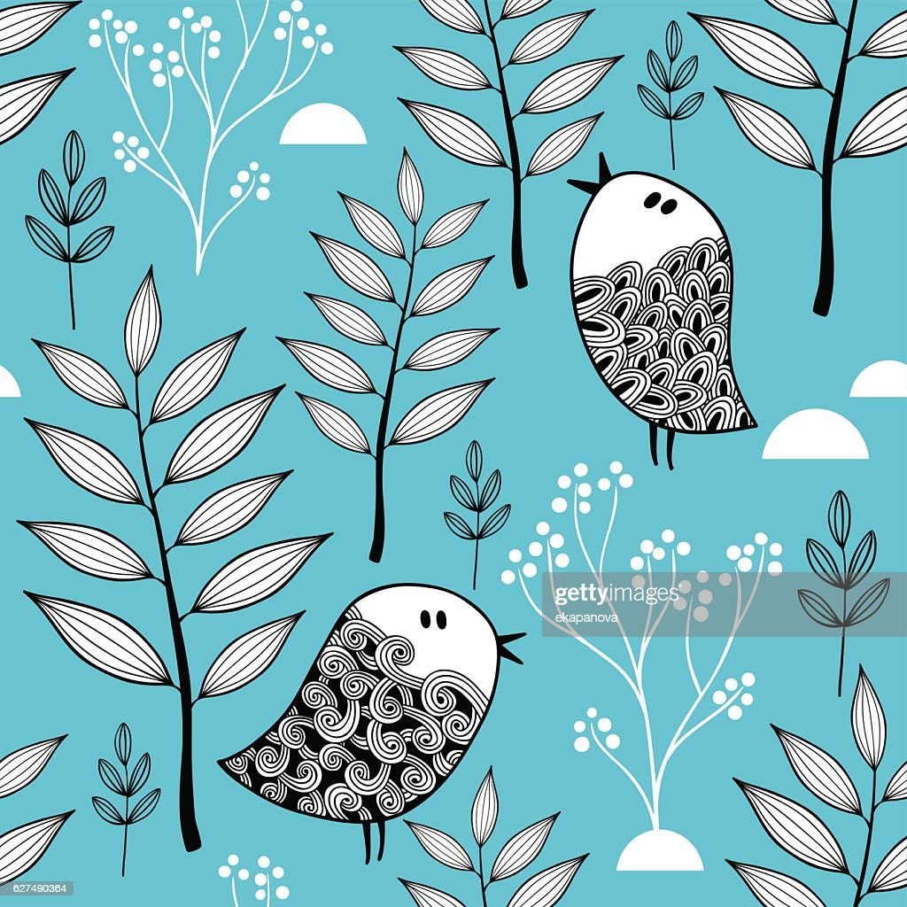 Winter in the forest vector illustration