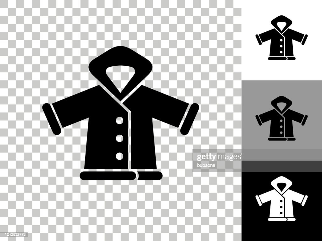 Winter Jacket Icon On Checkerboard Transparent Background High Res Vector Graphic Getty Images