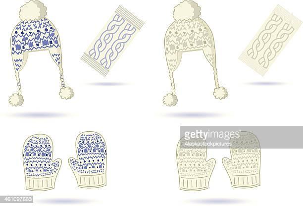 冬のニット品です。 - 縄編み点のイラスト素材/クリップアート素材/マンガ素材/アイコン素材