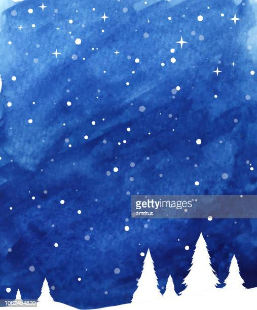 winter landscape - non urban scene stock illustrations