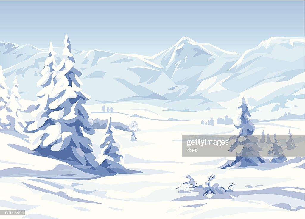 Winter-Landschaft : Stock-Illustration