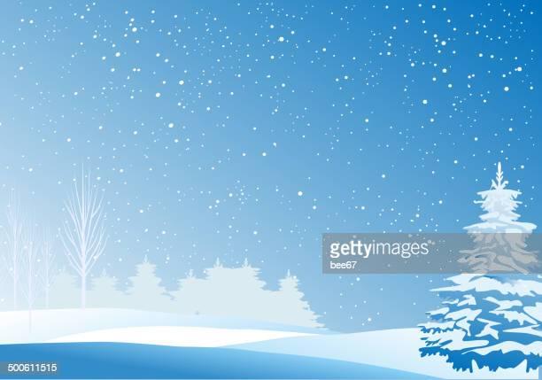 winter landscape - glühend stock illustrations