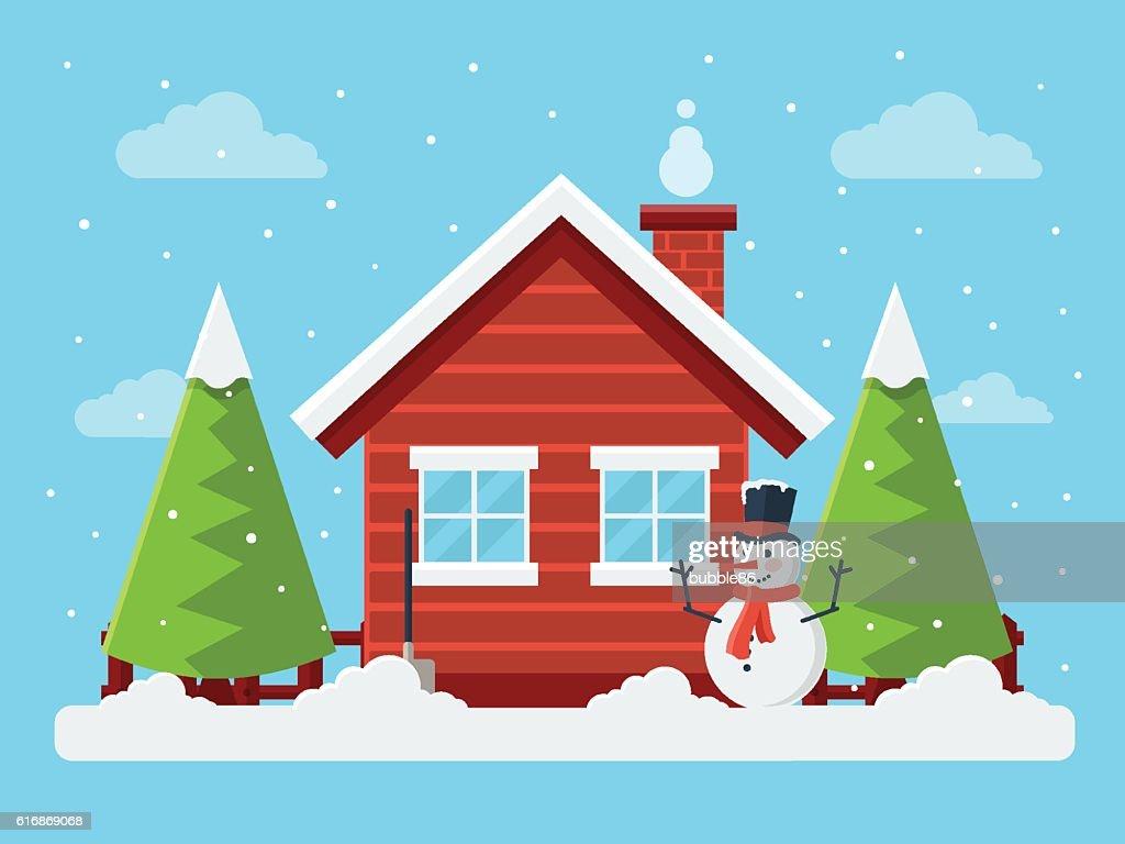 Winter Landscape : Vector Art
