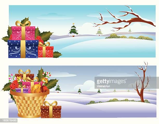 Winter Landscape/Christmas Banner.