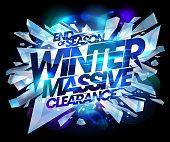 Winter massive clearance sale design