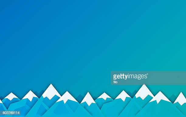 Winter Mountain Background