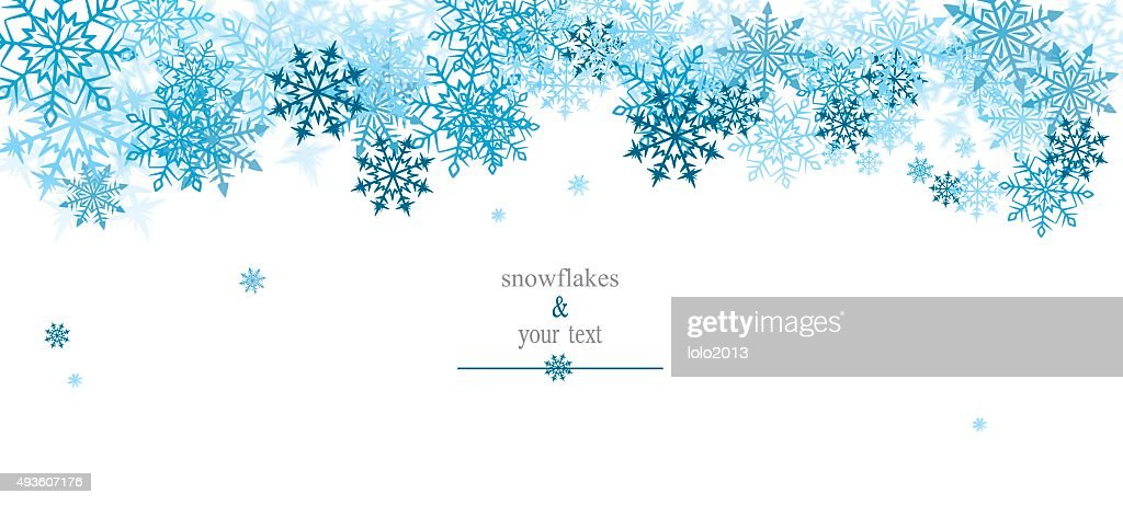 winter print with blue snowflakes
