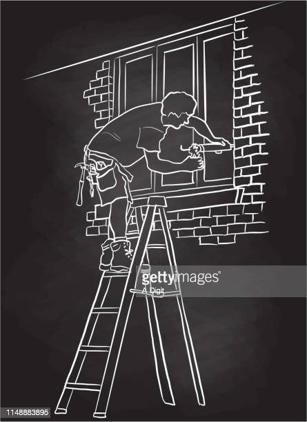 ilustrações, clipart, desenhos animados e ícones de quadro home da prova do inverno - cinto de ferramentas