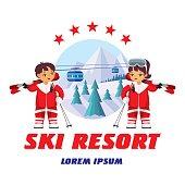 winter resort badge