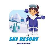 winter resort emblem