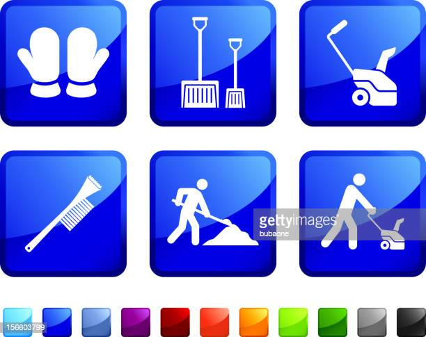 winter safety cleanup icon set - winterdienst stock illustrations