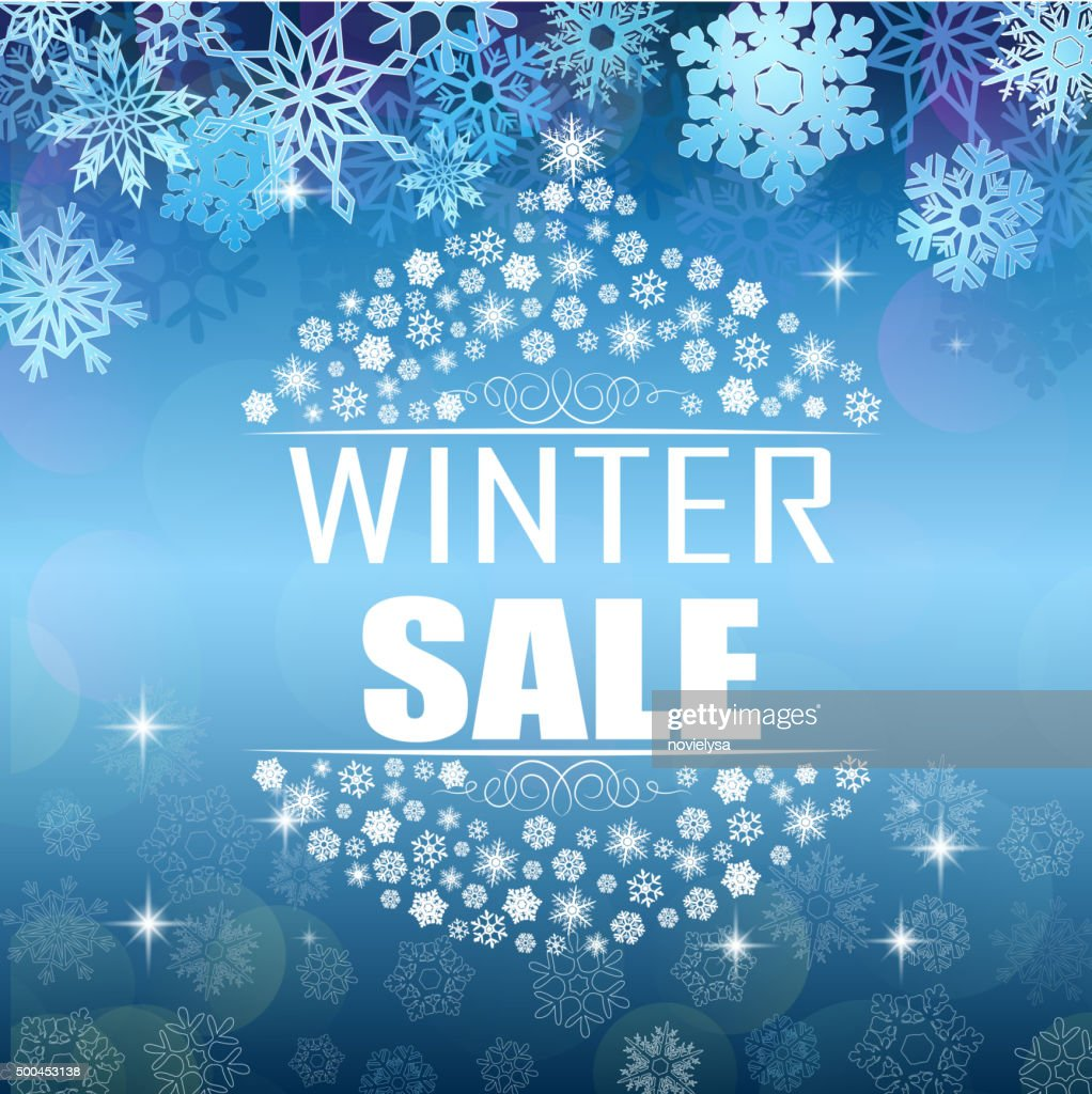 Winter sale background banner