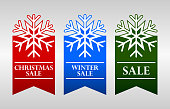 Winter sale badges