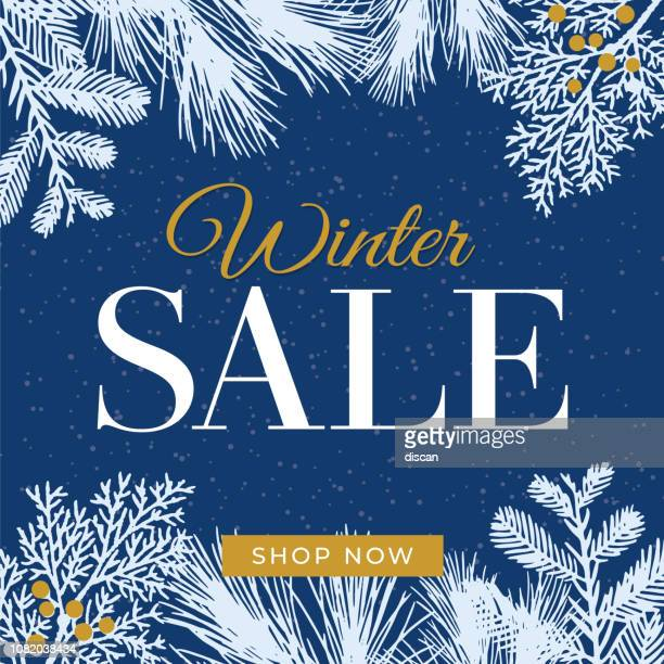 winter sale design for advertising, banners, leaflets and flyers. - winter stock illustrations