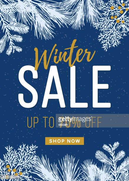 Winter Sale design for advertising, banners, leaflets and flyers.