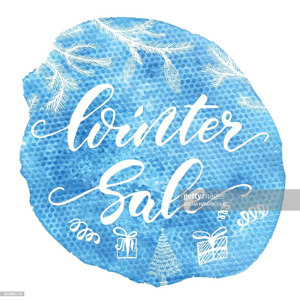 Winter sale - hand drawn calligraphy text