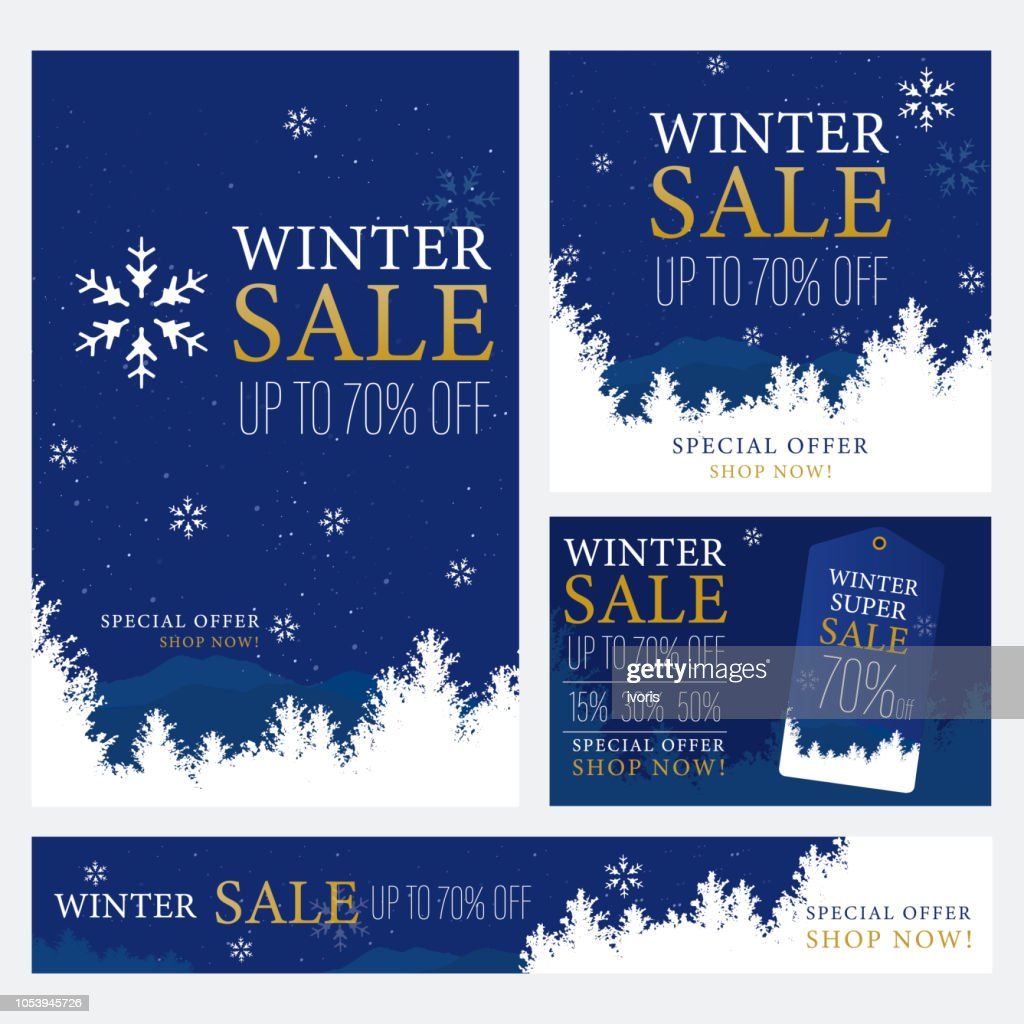 Winter Sale Promotion Banner Template.