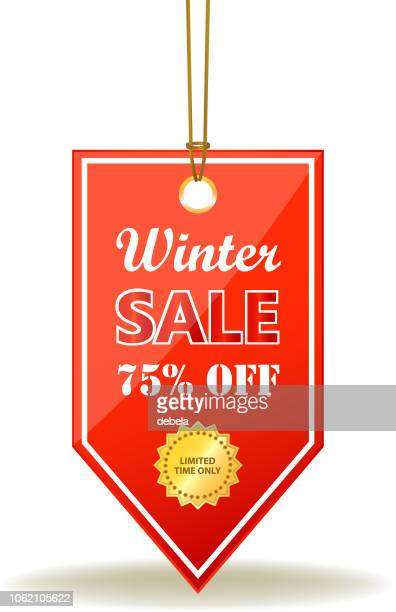 Winter Sale Seventy Five Percent Off Red Price Tag On A Rope