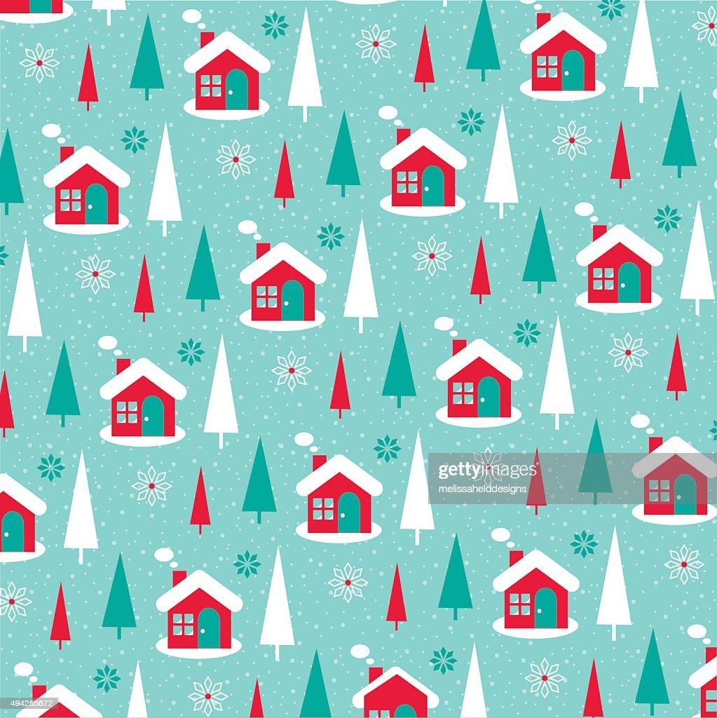 winter scene pattern