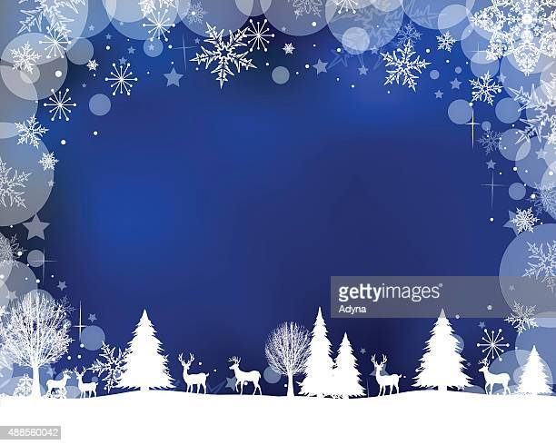 winter scene - frost stock illustrations, clip art, cartoons, & icons