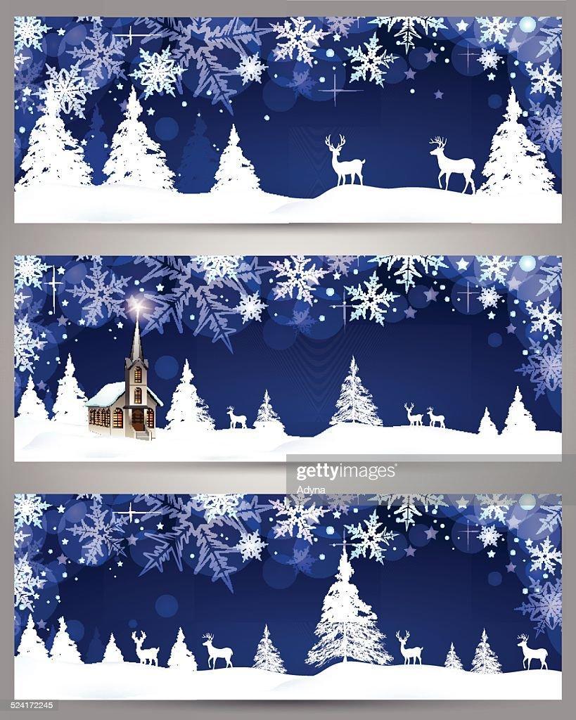 winter scene stock illustration getty images. Black Bedroom Furniture Sets. Home Design Ideas