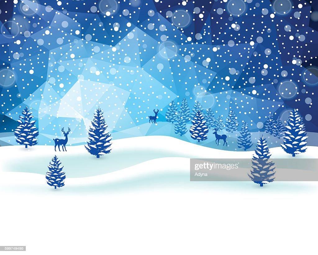 Winter Scene : stock illustration