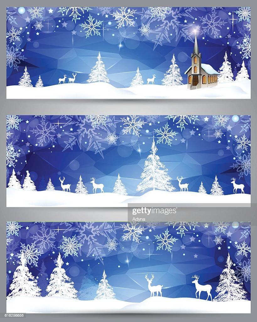 Winter Scene : Vector Art