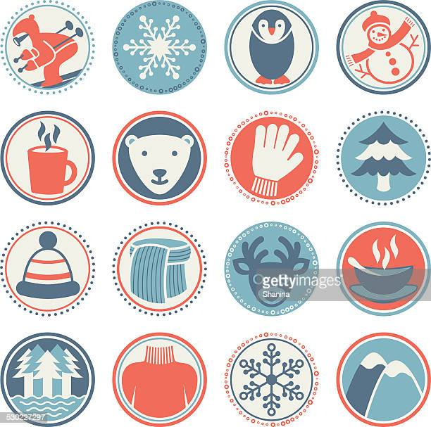 Winter Season - Circle Icons