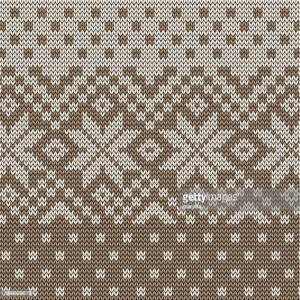 Winter snow socks, seamless pattern
